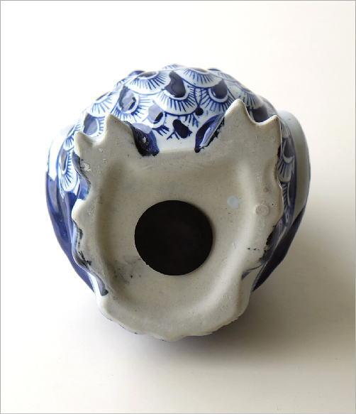 陶器の貯金箱 浮羽梟L(4)