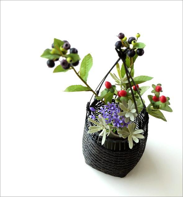 竹籠花入れ 丸(1)