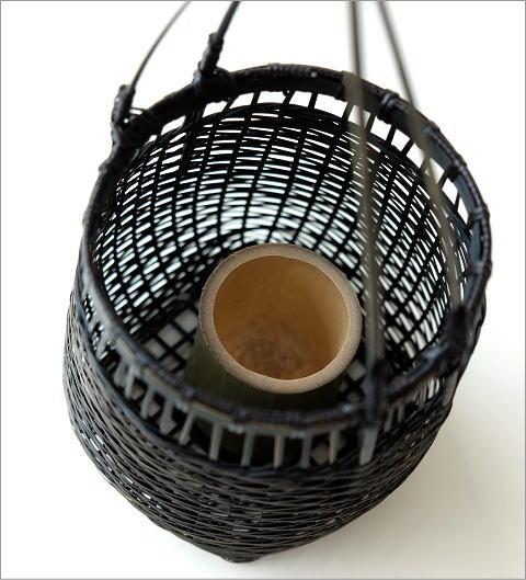 竹籠花入れ 丸(3)