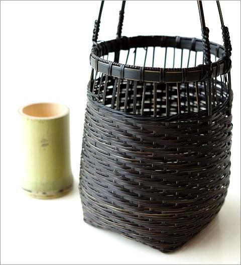 竹籠花入れ 丸(4)