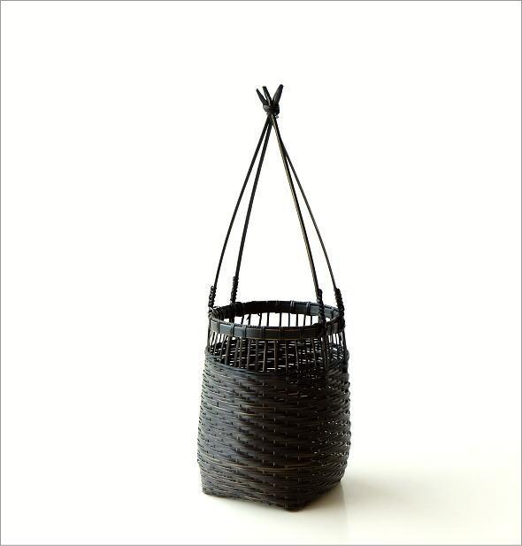 竹籠花入れ 丸(5)
