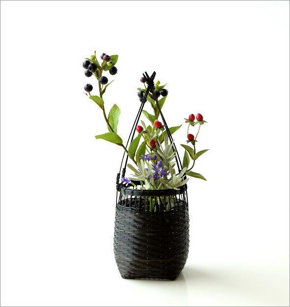 竹籠花入れ 丸(6)