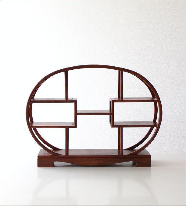 和のコレクション棚 楕円(5)