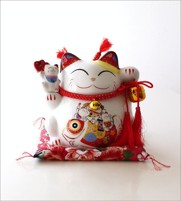 ビッグな招き猫の貯金箱 開運(6)