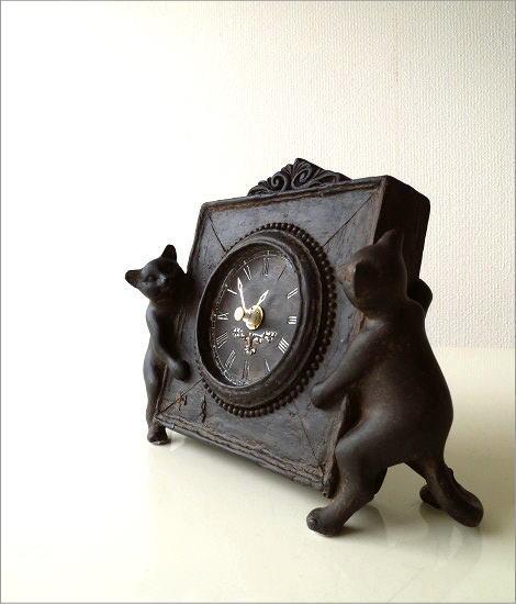 アンティークな時計とネコさん(1)
