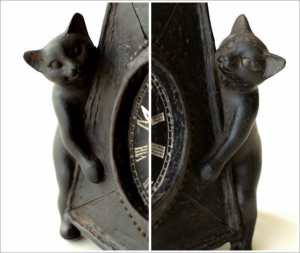アンティークな時計とネコさん(3)