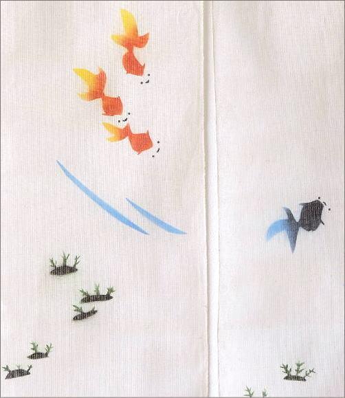 麻のれん 金魚(3)