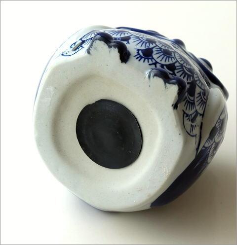 青花フクロウ 貯金箱(4)