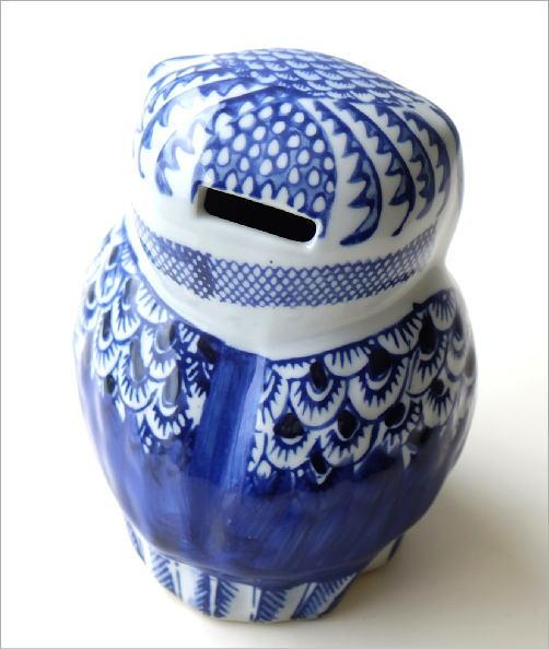 陶器の貯金箱 浮羽梟S(3)