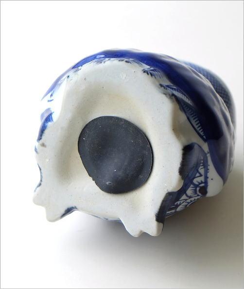 陶器の貯金箱 浮羽梟S(4)