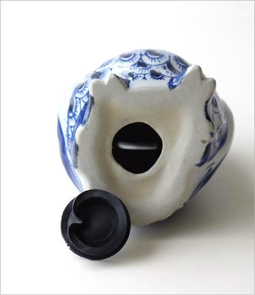 陶器の貯金箱 浮羽梟S(5)