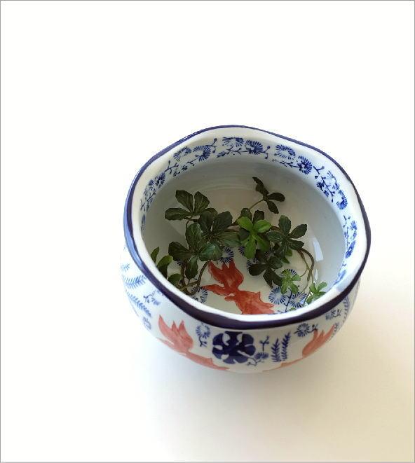 陶器の金魚鉢(1)