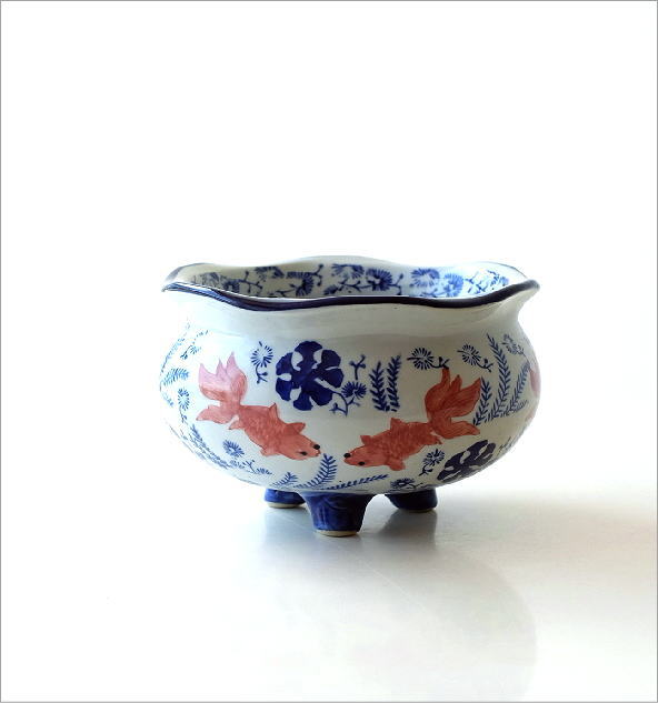 陶器の金魚鉢(3)