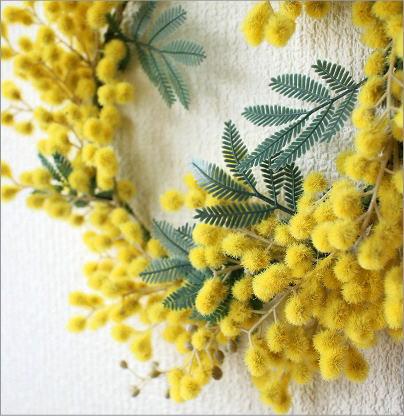 リーンの壁飾り ミモザのリースS(2)