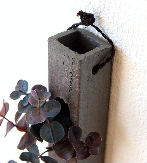 和陶器掛け花二(2)