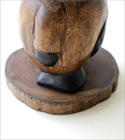 木彫りの置物 お散歩ネコ(3)