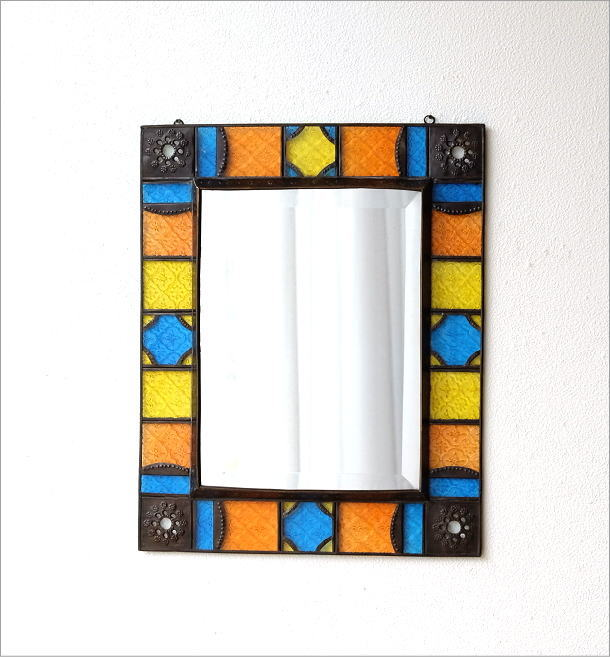 エキゾチックなガラスモザイクミラー(4)