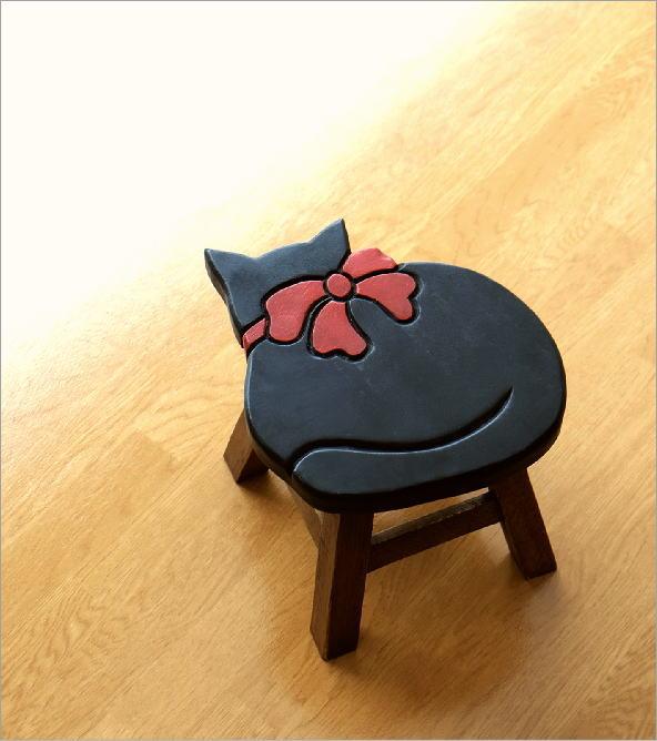 子供椅子 黒ネコさん(1)