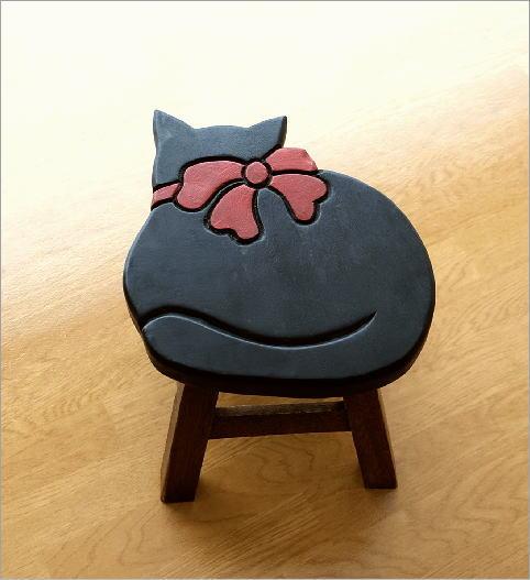 子供椅子 黒ネコさん(2)