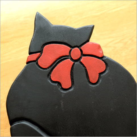 子供椅子 黒ネコさん(3)