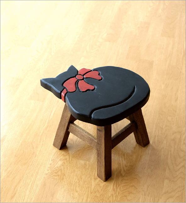 子供椅子 黒ネコさん(5)