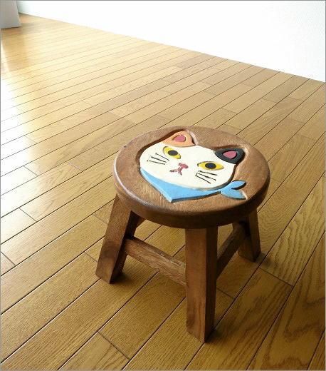 子供椅子 スカーフ白ネコさん(5)