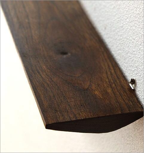 シンプルな古木のウォール棚 S(2)