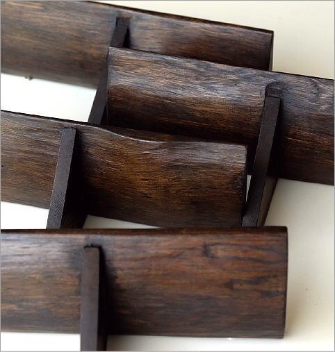 シンプルな古木のウォール棚 S(3)