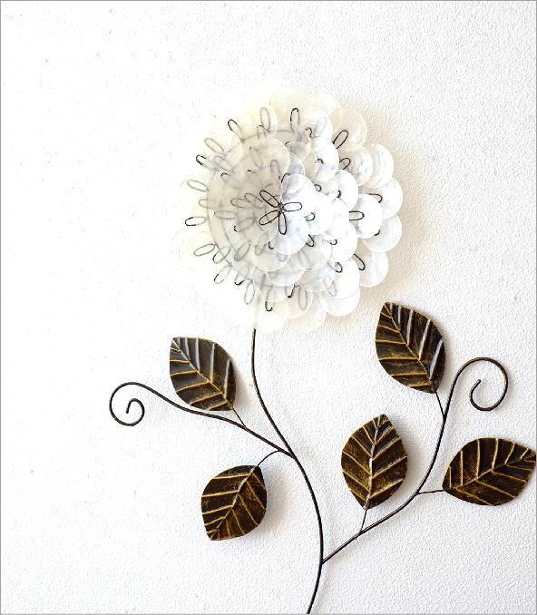 カピスレリーフの壁飾り 1輪花(1)