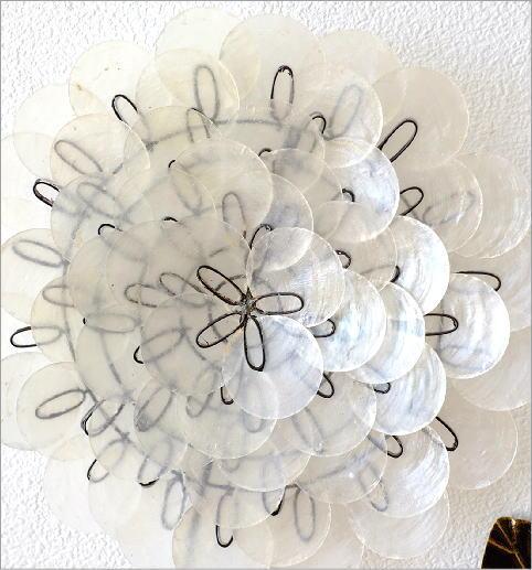 カピスレリーフの壁飾り 1輪花(2)