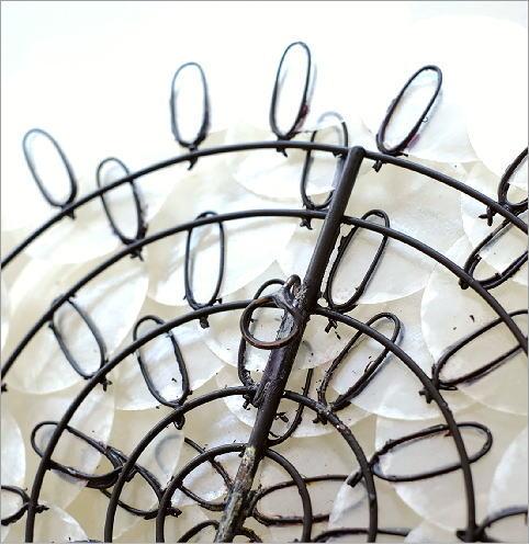 カピスレリーフの壁飾り 1輪花(3)