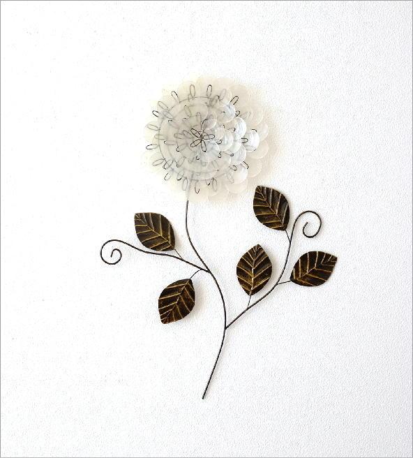 カピスレリーフの壁飾り 1輪花(4)