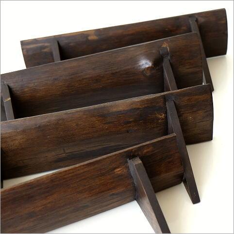 シンプルな古木のウォール棚 M(3)