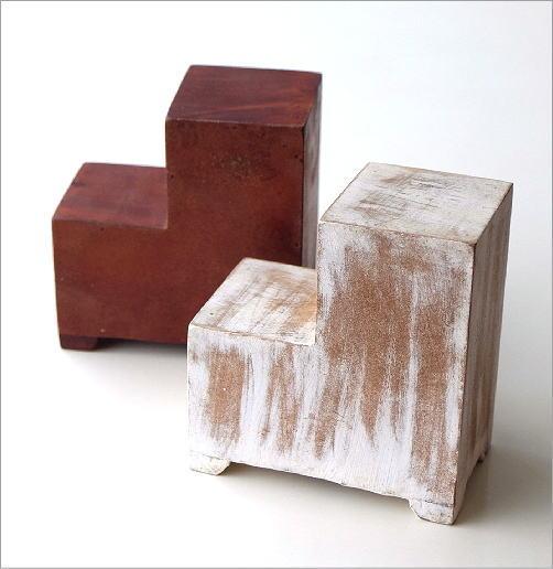 陶器の3ステアミニチェスト2カラー(3)