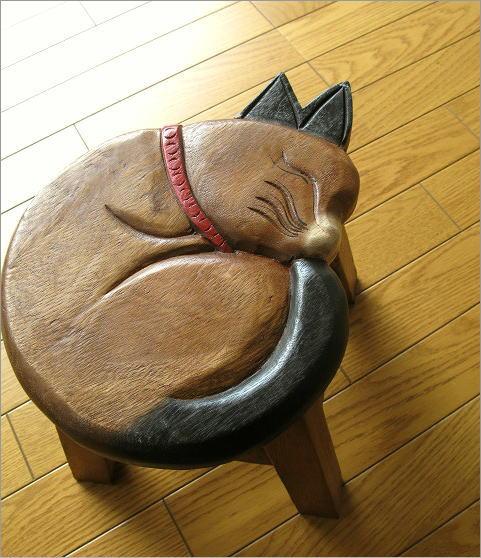 子供椅子まる丸ネコさん