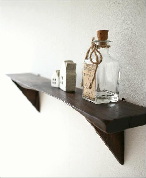 シンプルな古木のウォール棚(1)
