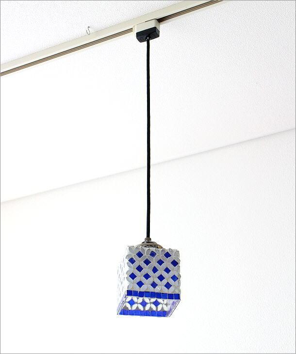 モザイクハンギングランプ 七宝ブルー(6)