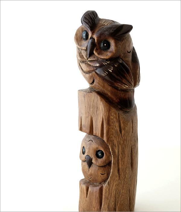木彫フクロウA(1)