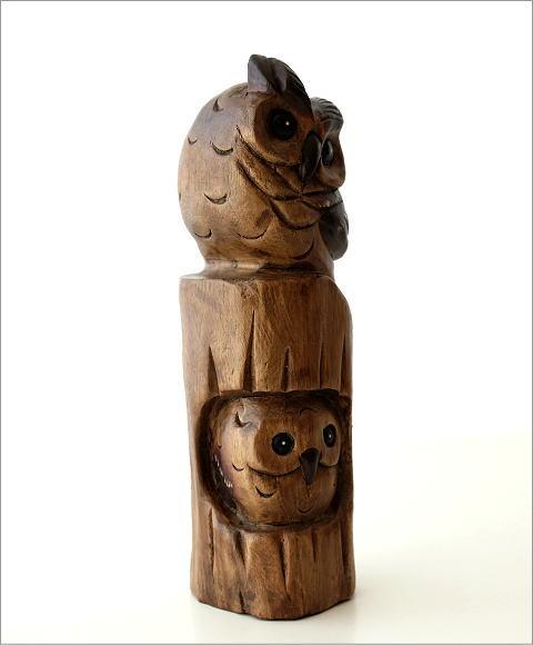 木彫フクロウA(3)