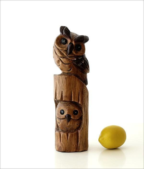 木彫フクロウA(4)