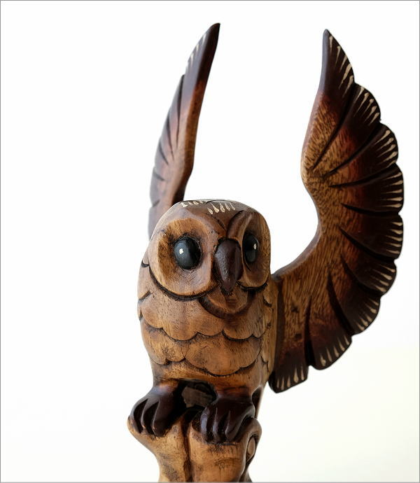 木彫フクロウB(1)