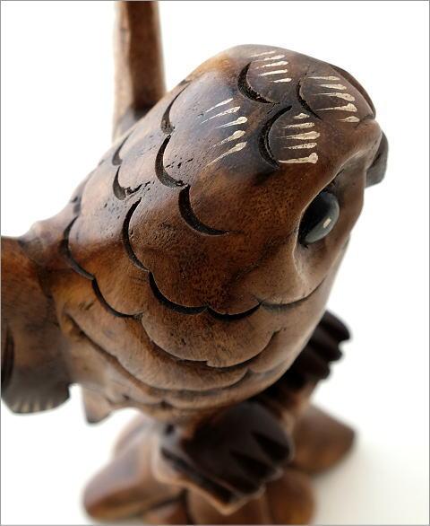 木彫フクロウB(2)