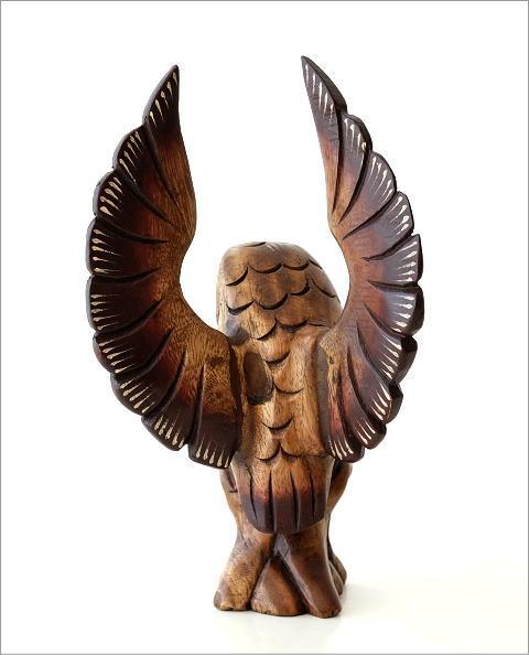 木彫フクロウB(3)