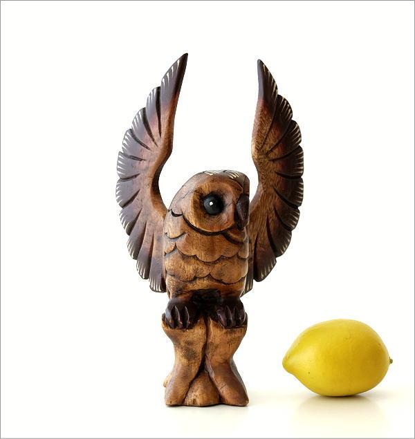 木彫フクロウB(4)