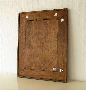 アジアン 壁掛け組み木ミラー(4)