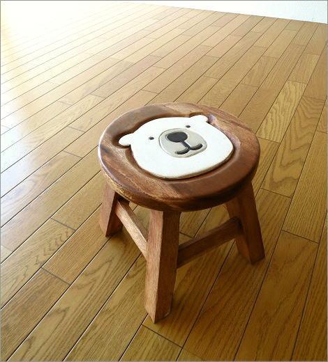 子供椅子 白くまくん(6)