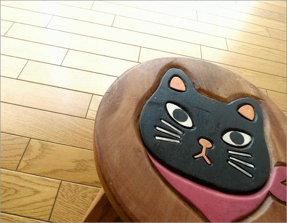 子供椅子 スカーフ黒ネコさん(1)