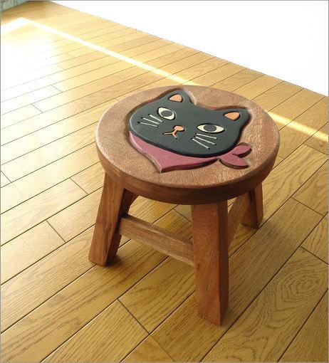 子供椅子 スカーフ黒ネコさん(7)