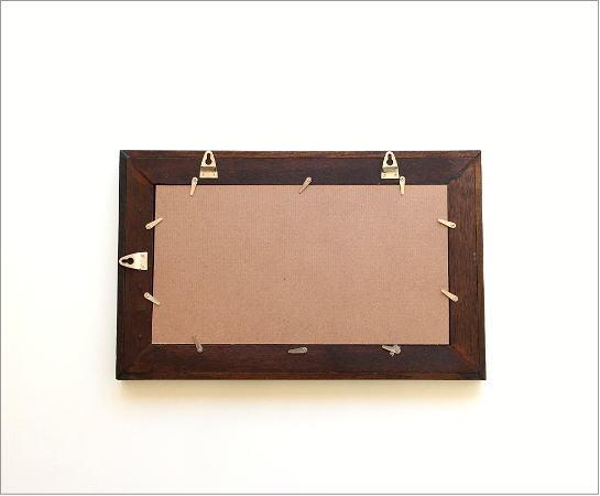 木製 壁掛け組み木ミラー M(3)