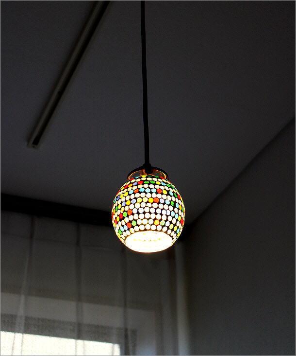 モザイクハンギングランプ ラインドット(1)